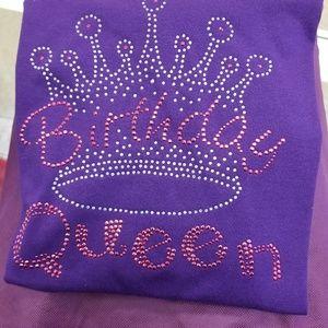 Tops - Birthday Queen Custom Bling T-shirt